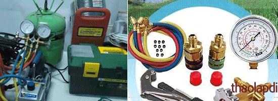 Một số dụng cụ thiết bị khi lắp điều hòa