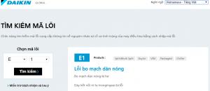 Website tìm mã lỗi điều hòa Daikin